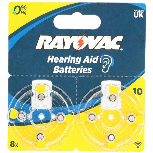 RAYOVAC pila auditiva 10 AU blíster 8 uds