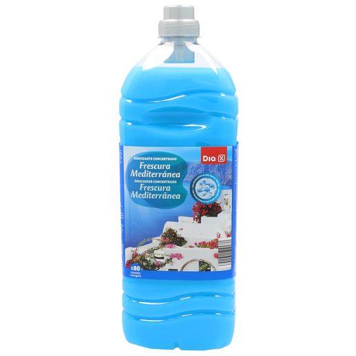 DIA suavizante concentrado con microcápsulas frescura mediterránea botella 80 lv