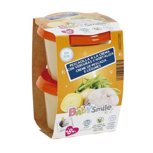 BABYSMILE pescadilla a la crema tarrito 2x200 gr