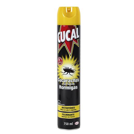 CUCAL insecticida para cucarachas y hormigas spray 750 ml