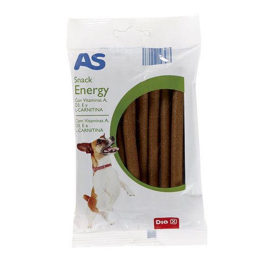 AS snack para perros energy con vitaminas y L- carnitina bolsa 150 gr