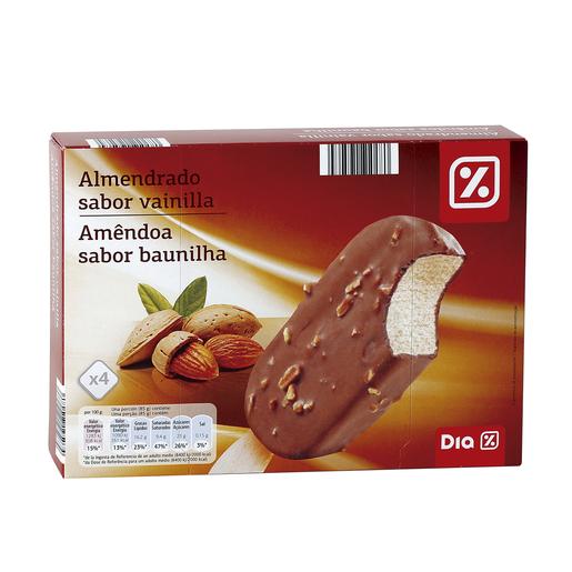 DIA helado bombón chocolate con almendras caja 4 uds 340 gr