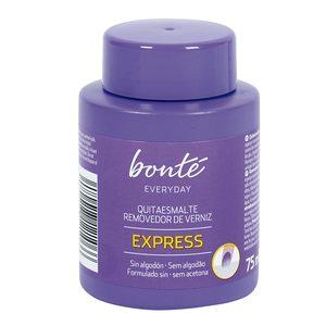 BONTE quitaesmalte express sin alcohol 0% acetona bote 75 ml