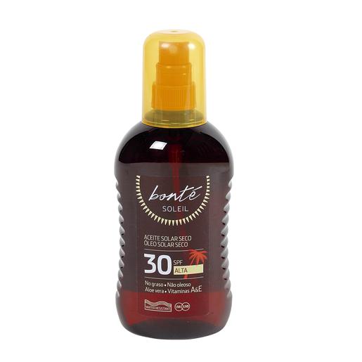BONTE aceite solar seco protección alta 30 spf spray 250 ml