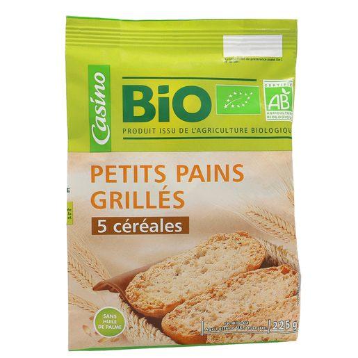 CASINO BIO panecillos tostados 5 cereales paquete 225 gr