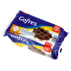DIA gofre recubierto de chocolate paquete 360 gr