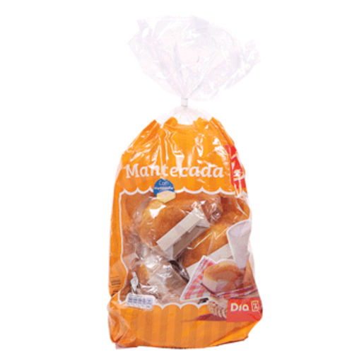 DIA mantecadas envasadas individualmente bolsa 350 gr