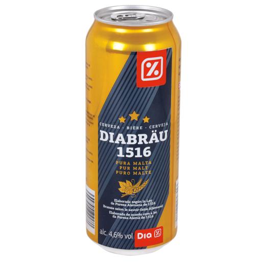 DIA cerveza rubia alemana lata 50 cl