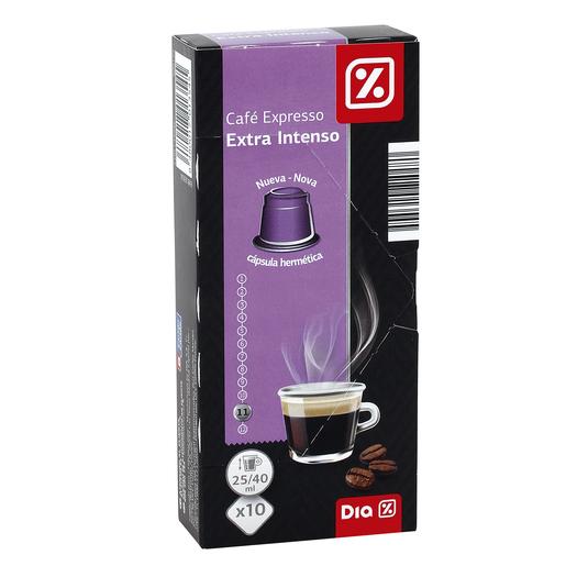 DIA café expresso extra intenso 10 cápsulas caja 53 gr