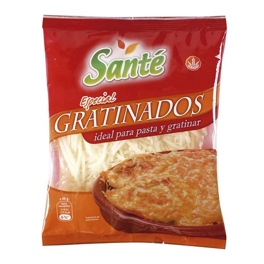 SANTE queso rallado especial gratinar bolsa 150 gr
