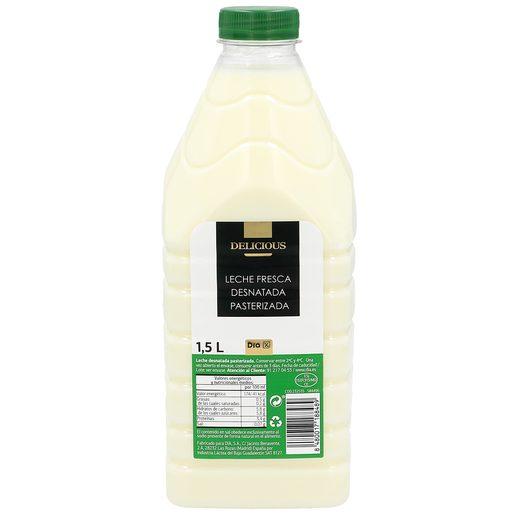 DIA DELICIOUS leche desnatada fresca botella 1.5 lt