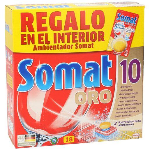 SOMAT 10 lavavajillas máquina oro caja 18 cápsulas