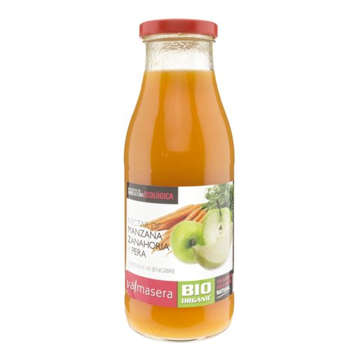 VALMASERA néctar de manzana, zanahoria y pera botella 500 ml