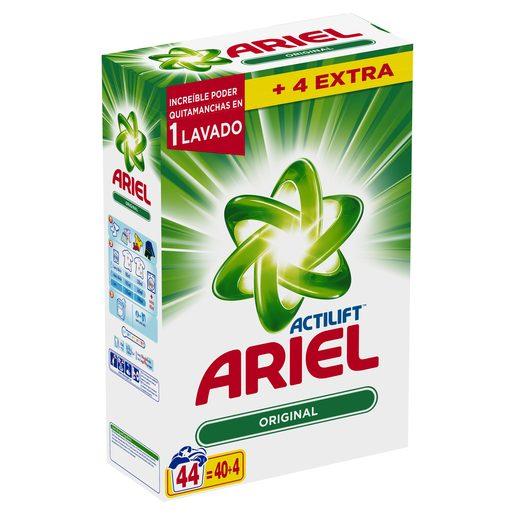 ARIEL Actilift detergente máquina polvo maleta 44 cacitos