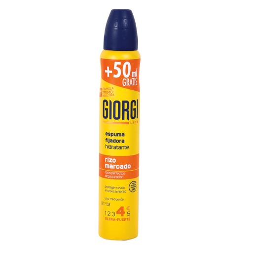 GIORGI LINE espuma fijadora rizo marcado ultra fuerte spray 210 ml