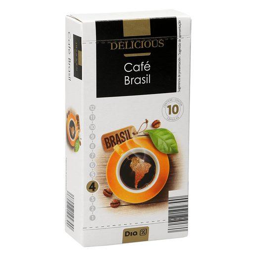 DIA DELICIOUS café brasil 10 cápsulas caja 52 gr