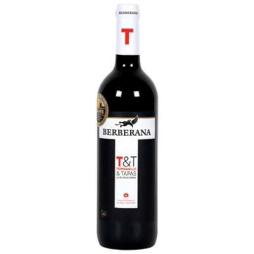 BERBERANA vino tinto t&t botella 75 cl