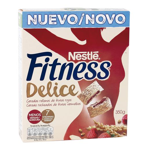 NESTLE cereales fitness delice rellenos de frutos rojos  caja 350 gr