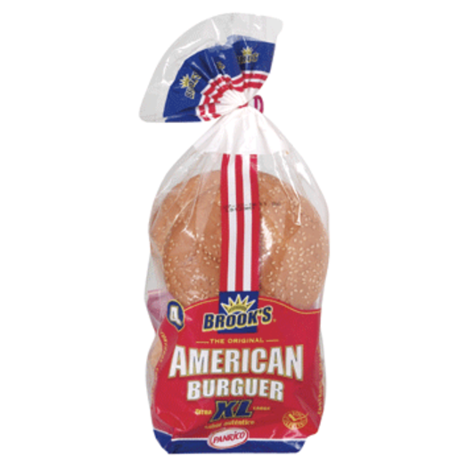 PANRICO BROOK´S pan de hamburguesa XL 4 unidades 330 gr