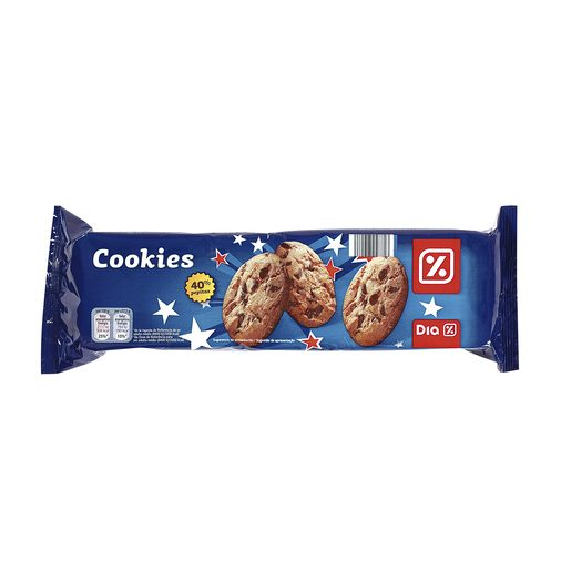 DIA galleta con chips de chocolate 37% estuche 225 gr