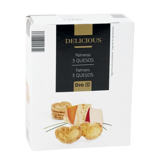 DIA DELICIOUS palmeras tres quesos caja 90 gr