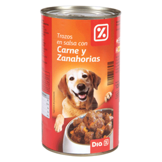 Dia alimento para perros trozos en salsa con carne y for Alimento para perros