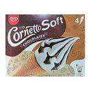 CORNETTO Soft helado cono de vainilla y chocolate caja 4 uds 324 gr