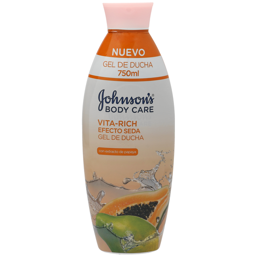 JOHNSON´S Vitarich gel de ducha efecto seda papaya bote 750 ml