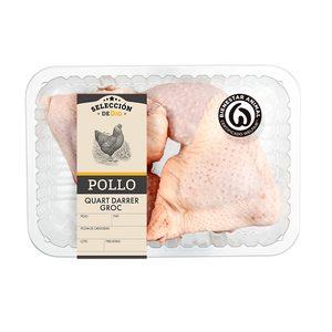 SELECCIÓN DE DIA cuartos traseros de pollo amarillo bandeja (peso aprox. 800 gr)