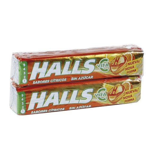 HALLS vita c cítricos paquete 2 uds 64 gr