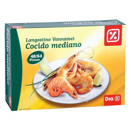 DIA langostino cocido mediano 48/64 caja 800 gr