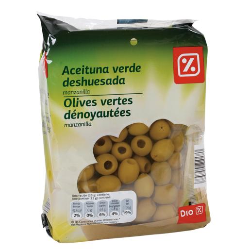 DIA aceitunas verdes sin hueso pack 3 x 75 gr