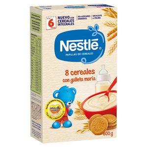 NESTLE papilla 8 cereales galleta caja 600 gr