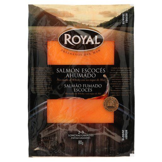 ROYAL salmón escocés ahumado sobre 80 gr