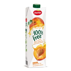 JUVER zumo de melocotón 100% free envase 1 lt
