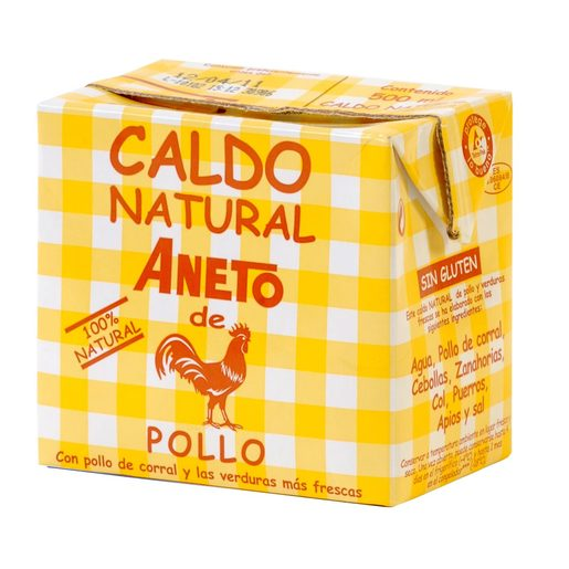 ANETO caldo natural de pollo envase 500 ml