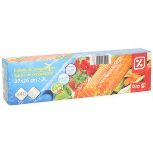 DIA bolsas de congelación 3 lt con cierre zip paquete 40 uds