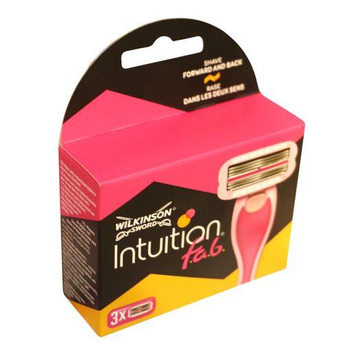 WILKINSON Sword intuition fab maquinilla de afeitar mujer recambio 3 uds