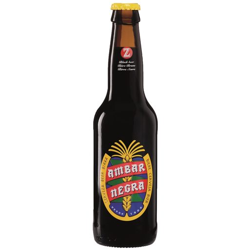 AMBAR cerveza negra botella 33 cl