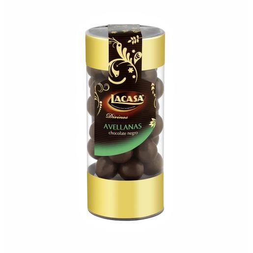 LACASA avellanas con chocolate negro bote 175 gr