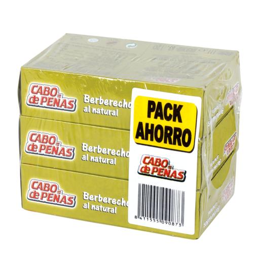 CABO DE PEÑAS berberecho al natural pack 3 x 63 gr