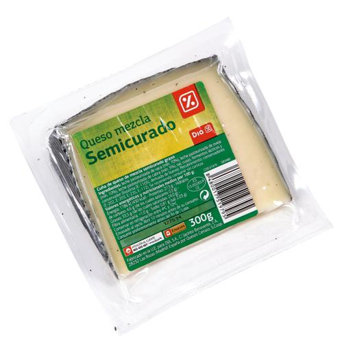 DIA queso semicurado cuña 300 g