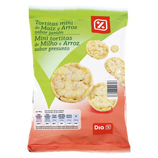 DIA tortitas mini de maiz y arroz sabor jamon paquete 75 gr