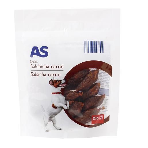 AS snack para perros salchichas de carne bolsa 53 gr