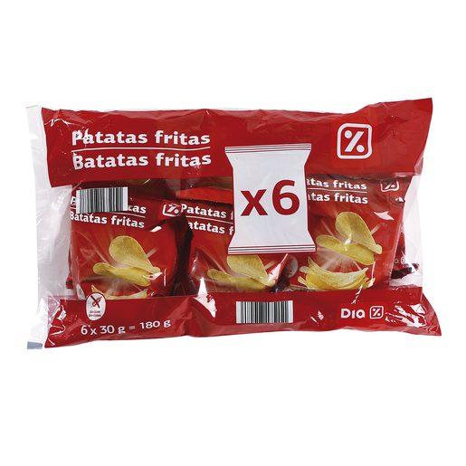 DIA patatas fritas bolsa 6 x 30 gr