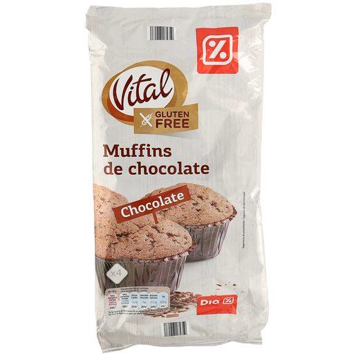 DIA VITAL muffins de chocolate bolsa 320 gr