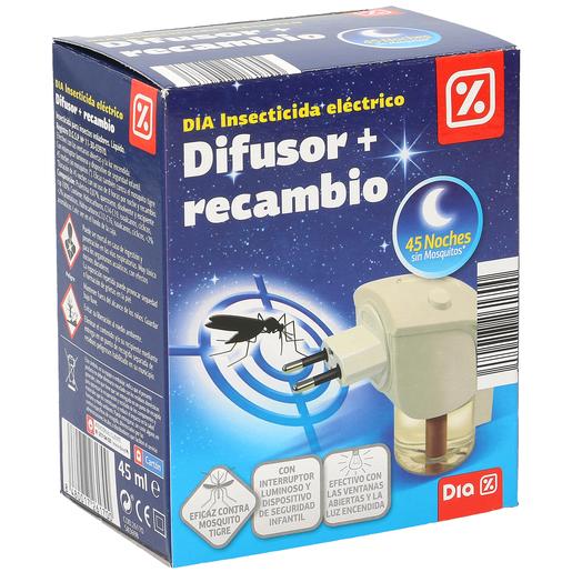 DIA insecticida voladores eléctrico aparato + recambio 1 ud