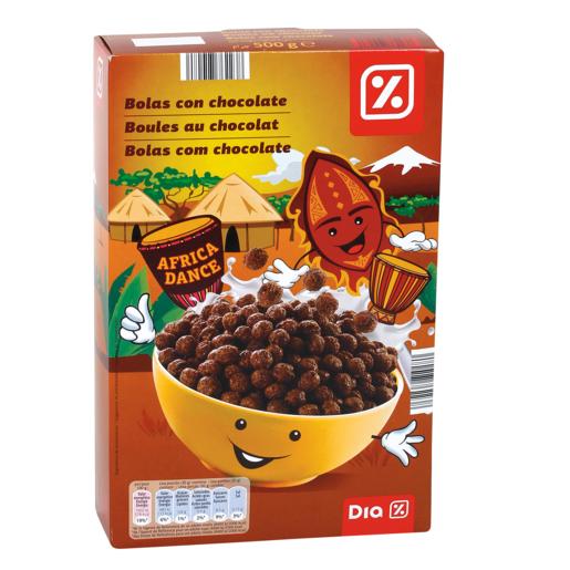 DIA cereales en bolas de maiz con chocolate paquete 500 gr