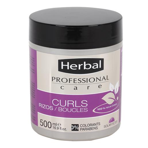 HERBAL Professional care mascarilla cabellos rizos tarro 500 ml