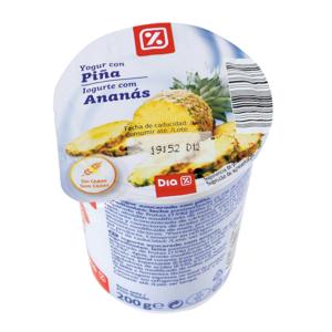 DIA yogur con piña vaso 200 gr